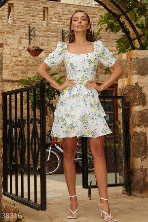 Воздушное платье в цветочный принт