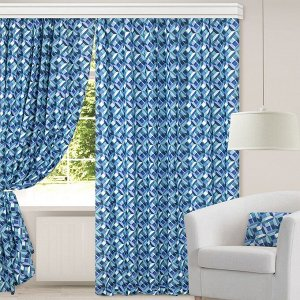 Комплект штор для гостиной, кухни Готэн 200х270 см, 777-3045/1