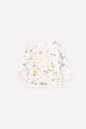 Кофточка для девочки Crockid К 300200 зайчики в цветах на белой лилии