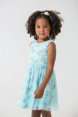 Платье(Весна-Лето)+girls (минт, бабочки)