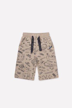 Шорты для мальчика Crockid КР 4990 светло-коричневый меланж, сафари парк к292