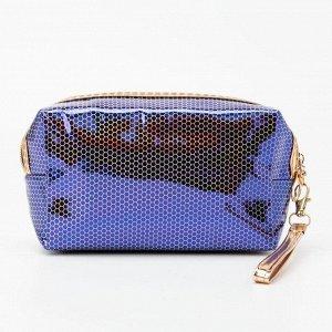Косметичка дорожная, отдел на молнии, цвет фиолетовый, «Авокадо»