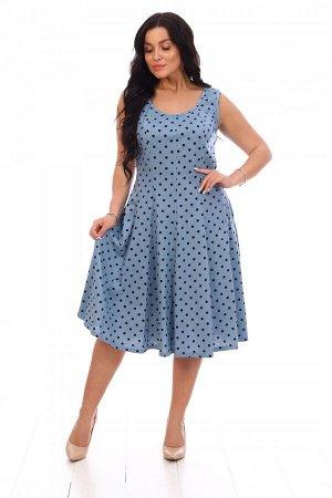 Платье Ткань: Кулирка; Состав: 100% хлопок; Размеры: 46, 48, 50, 52, 54, 56; Цвет: Голубой