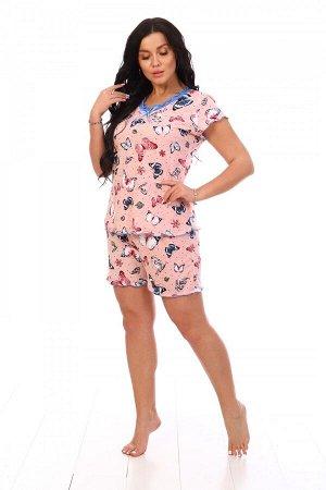Пижама Ткань: Кулирка; Состав: 100% хлопок; Размеры: 42, 44, 46, 48, 50, 52; Цвет: Розовый