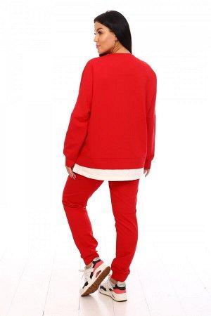 Костюм Цвет: Красный; Ткань: Кулирка с лайкрой; Размеры: 42, 44, 46, 48