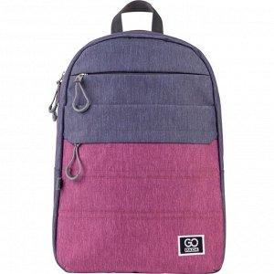Рюкзак GoPack Сity 118-1 серый, розовый