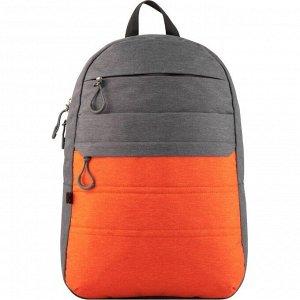 Рюкзак GoPack Сity 118-3 серый, оранжевый