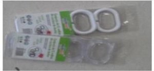 Кольца д/шторы в ванную 12шт пластик /Арт.34128-8 /340925 /DVL