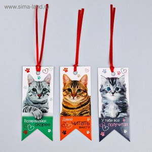 """Закладки-флажки картонные """"Самые добрые закладки"""", 3 шт."""