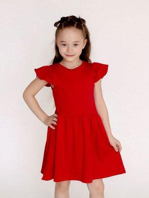 Платье Феечка красный