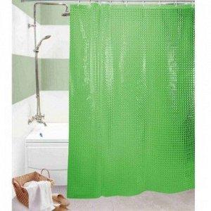 Штора д/ванной EVA 3D 180*180 зеленый Арт.SC-EVA02-GREEN/ 317736/ MZ