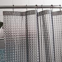 Штора д/ванной EVA 3D 180*180 серый /Арт-SC-EVA-3-Grey/335524/MZ