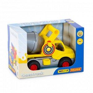 """""""КонсТрак"""", автомобиль-бетоновоз (жёлтый) (в коробке) 44853"""