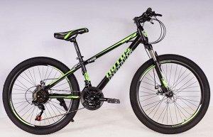 """Велосипед NOTUS 2-х колесный 24"""" (21скорость) FX220 черно/зеленый"""