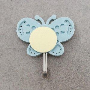 Набор крючков на липучке «Бабочки», 3 шт, дизайн МИКС