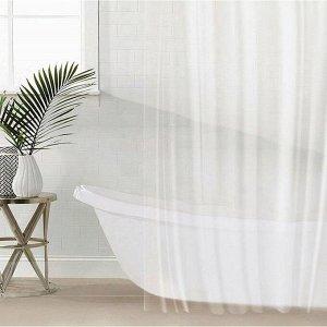 Штора для ванной комнаты SAVANNA «Лёд», с люверсами, 180?180 см, PEVA, прозрачная