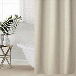 Штора для ванной комнаты SAVANNA «Классик», с люверсами, 180?180 см, EVA, цвет бежевый