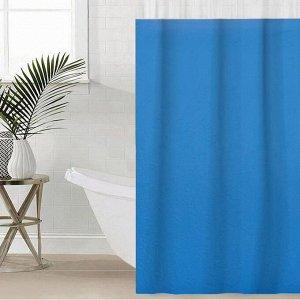 Штора для ванной комнаты SAVANNA «Лайн», 180?180 см, EVA, цвет голубой