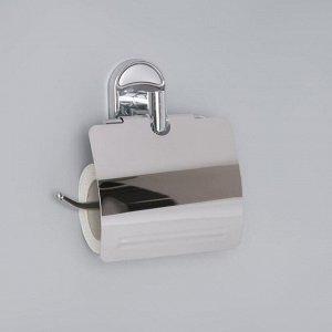Держатель для туалетной бумаги с крышкой, Accoona A11205, цвет хром