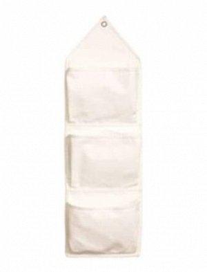 Карман д/мелочей подвесной 3 кармана 27*94см 100% хлопок /Арт-CW-07/323355/ CMS