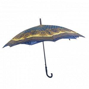 Двухслойный женский зонт полуавтоматический / 80 см