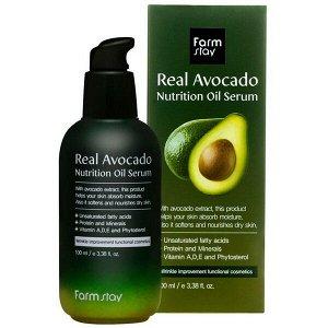 Питательная сыворотка для лица с маслом авокадо  FarmStay Real Avocado Nutrition Oil Serum,100мл