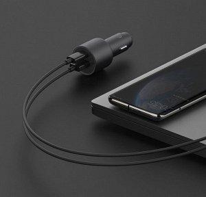 Автомобильное зарядное устройство Xiaomi Car Charger 1A1C
