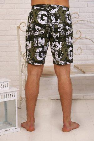 Шорты 6329 100% хлопок Мужские шорты из 100% хлопчатобумажного набивного полотна свободного покроя на широкой резинке с боковыми карманами. Отличительной особенностью данной модели является то, что он
