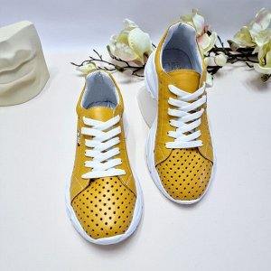 Кроссовки SUMMER желтый-1235