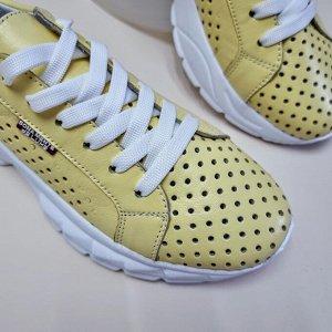 Кроссовки SUMMER лимонный-1044