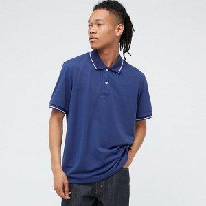 Мужская футболка поло,голубой