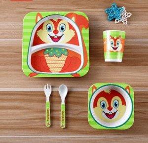 Набор детской посуды Белочка 5 шт.