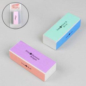 Баф для полировки ногтей, четырёхсторонний, 9 ? 3,5 ? 2,5 см, цвет МИКС