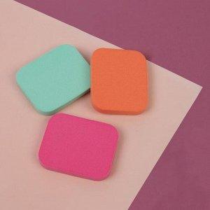 Набор спонжей для нанесения косметики, 4,5 ? 4 см, 3 шт, цвет МИКС