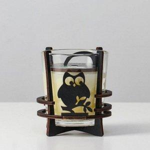 Ароматическая свеча в стекле с декором VANILLA, 10х9,5 см, 150 гр 6770868