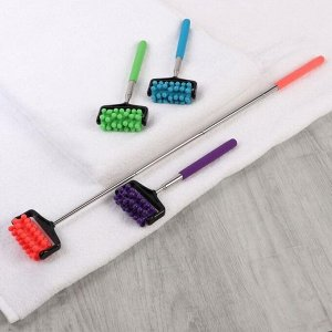 Массажёр универсальный, с раздвижной ручкой, 20,5 - 46 см, цвет МИКС