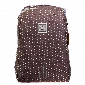 Рюкзак молодёжный, Merlin, 43 x 32 x 18 см, эргономичная спинка, коричневый
