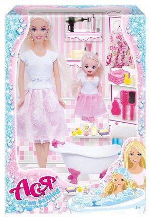"""Кукла Ася """"Веселое купание"""" набор с мини куклой арт.35105"""