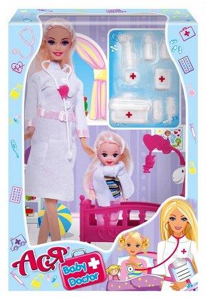 """Кукла Ася """"Детский доктор"""" набор с мини куклой арт.35101"""