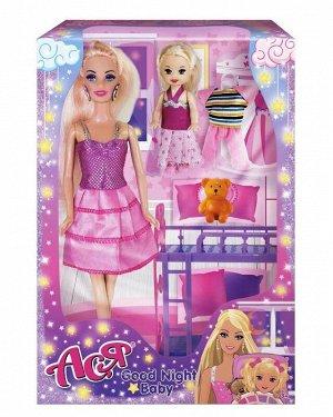 """Кукла Ася """"Спокойной ночи, малышка"""" набор с мини-куклой арт.35095"""