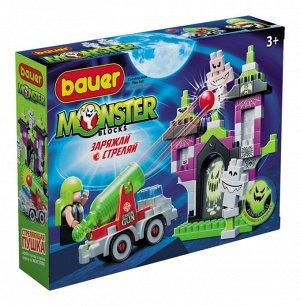 """Bauer.822 Конструктор """"Monster blocks"""" дом с привидениями, пушкой и охотником"""