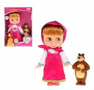 "Карапуз. Кукла ""Маша и медведь, Маша"" 25см. озвуч.. руссифиц. с мишкой арт.83034S"