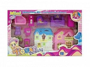 """Домик для кукол с мебелью """"House Beauty"""" в/к 42*26*5,5 см. арт.ZY905277"""