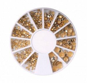 Заклёпки золотые в карусельке