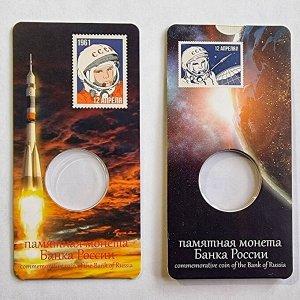 Блистер для монеты 25 Рублей 2021 60 лет Полёта в Космос