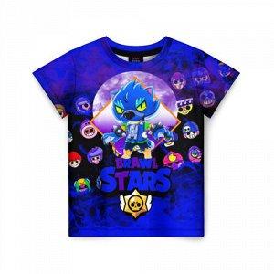 Детская футболка 3D «BRAWL STARS LEON WOLF»