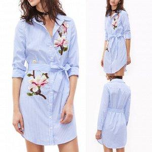 Стильное платье-рубашка 40-42-44 размер