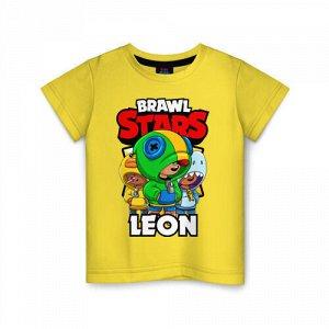Детская футболка хлопок «BRAWL STARS LEON»