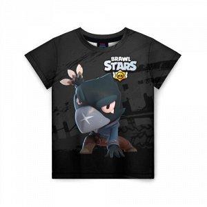 Детская футболка 3D «Brawl Stars Crow (Ворон)»