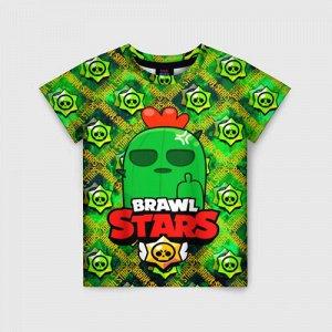 Детская футболка 3D «BRAWL STARS Spike»